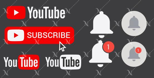 پکیج کامل وکتور های آماده یوتیوب | youtube