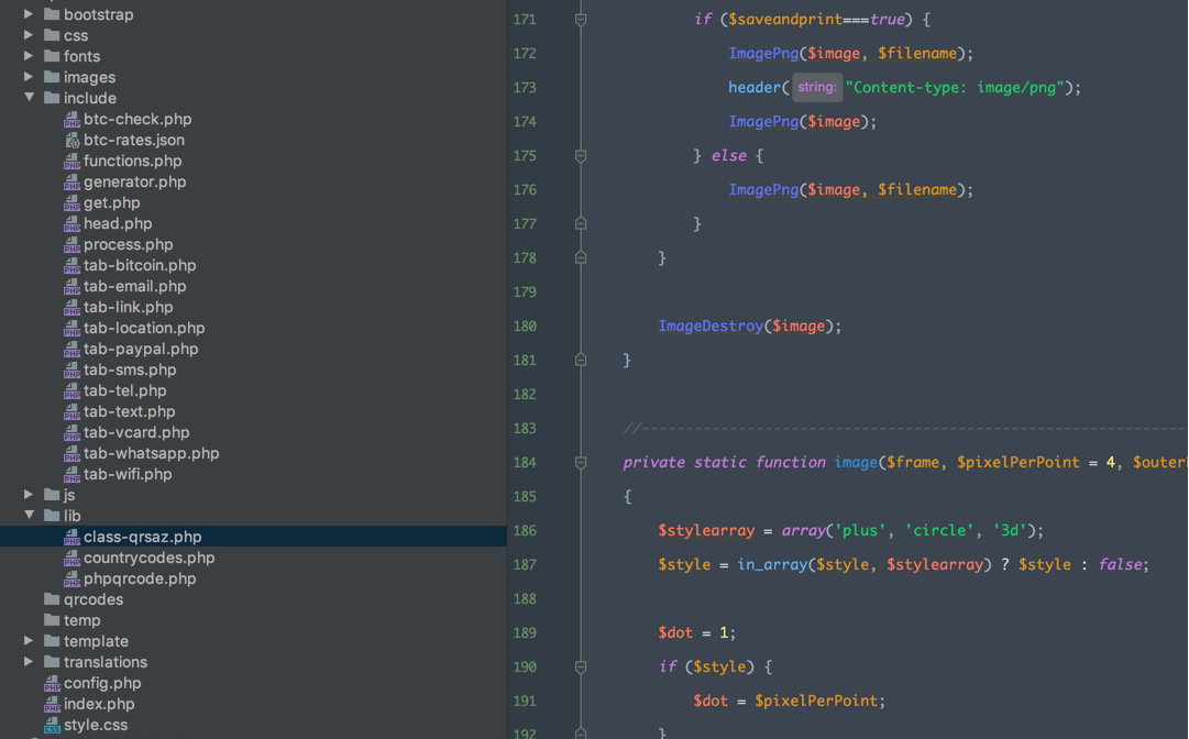 اسکریپت ساخت QR Code