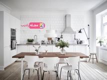آشپزخانه ای شاد و زیبا با فنگ شویی